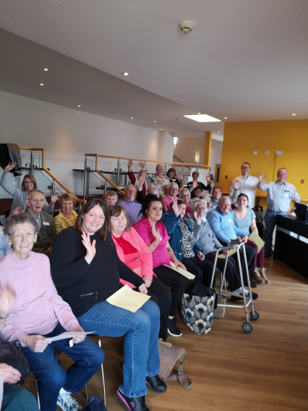 Cradle Choir weekly singing sessions on Zoom for those living with dementia